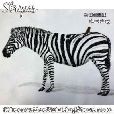 Stripes (Zebra -Colored Pencil) Download - Debbie Cushing