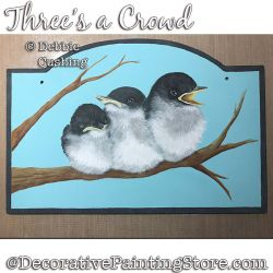 Threes a Crowd (Birds) Download - Debbie Cushing