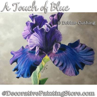 A Touch of Blue (Iris) Colored Pencil Download - Debbie Cushing