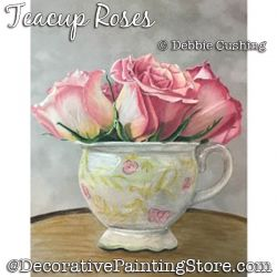 Teacup Roses Colored Pencil Download - Debbie Cushing