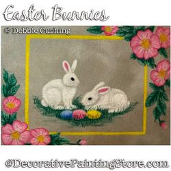 Easter Bunnies Colored Pencil Painting Pattern Download - Debbie Cushing