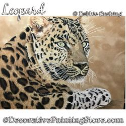 Leopard Colored Pencil Painting Pattern Download - Debbie Cushing