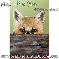 Peek a Boo Fox Painting Pattern Download - Debbie Cushing
