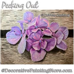 Peeking Out (Violets) Colored Pencil Painting Pattern Download - Debbie Cushing
