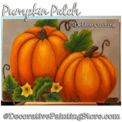 Pumpkin Patch Colored Pencil Painting Pattern Download - Debbie Cushing