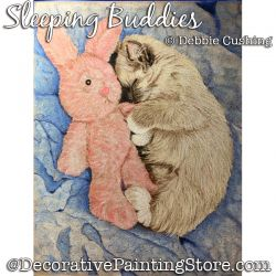 Sleeping Buddies (Kitten) Colored Pencil Painting Pattern Download - Debbie Cushing