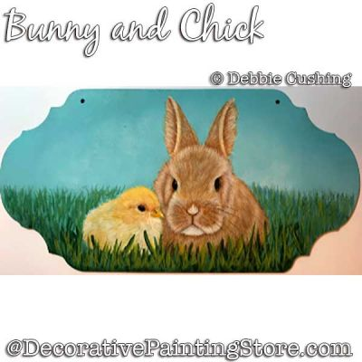 Bunny and Chick Painting Pattern Download - Debbie Cushing