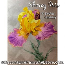 Showy Iris Colored Pencil Painting Pattern Download - Debbie Cushing