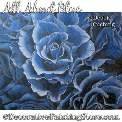 All About Blue Colored Pencil Painting Pattern Download - Debbie Cushing