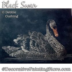 Black Swan Colored Pencil Painting Pattern Download - Debbie Cushing
