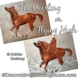 The Yearling or Flying High (Horse) Colored Pencil Painting Pattern Download - Debbie Cushing
