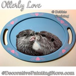 Otterly Love (Acrylic) Painting Pattern Download - Debbie Cushing