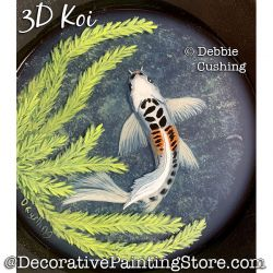3D Koi (Acrylic and Resin) Painting Pattern Download - Debbie Cushing