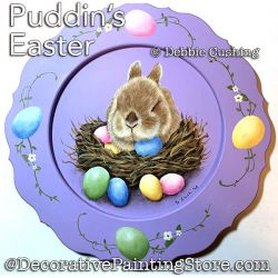 Puddins Easter (Acrylic Bunny) Painting Pattern Download - Debbie Cushing