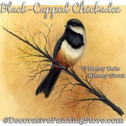 Black-Capped Chickadee DOWNLOAD Painting Pattern - Nancy Dale