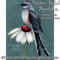 Scissor-Tailed Flycatcher (Bird) DOWNLOAD Painting Pattern - Nancy Dale