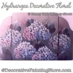 Hydrangeas Decorative Floral DOWNLOAD Painting Pattern - Nancy Dale
