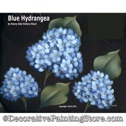 Blue Hydrangeas DOWNLOAD Painting Pattern - Nancy Dale