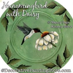 Hummingbird with Daisy Painting Pattern PDF DOWNLOAD - Nancy Dale