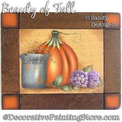Beauty of Fall Painting Pattern PDF DOWNLOAD - Sandy DeAngelo