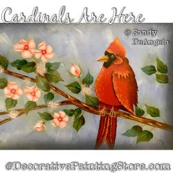 Cardinals Are Here Painting Pattern PDF DOWNLOAD - Sandy DeAngelo