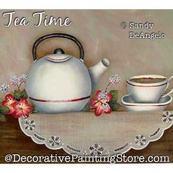 Tea Time Painting Pattern PDF DOWNLOAD - Sandy DeAngelo