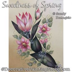Sweetness of Spring Painting Pattern PDF DOWNLOAD - Sandy DeAngelo