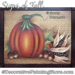 Signs of Fall Painting Pattern PDF DOWNLOAD - Sandy DeAngelo