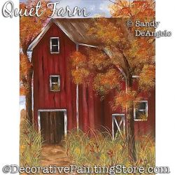Quiet Farm Painting Pattern PDF DOWNLOAD - Sandy DeAngelo
