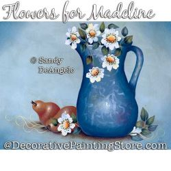 Flowers for Madeline Painting Pattern PDF DOWNLOAD - Sandy DeAngelo