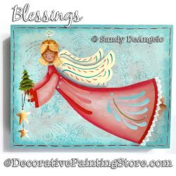 Blessings (Angel) Painting Pattern PDF DOWNLOAD - Sandy DeAngelo