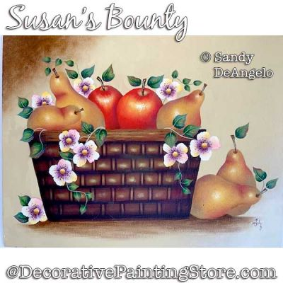 Susans Bounty Painting Pattern PDF DOWNLOAD - Sandy DeAngelo