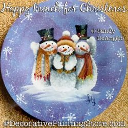 Happy Bunch for Christmas (Snowman) Painting Pattern PDF DOWNLOAD - Sandy DeAngelo