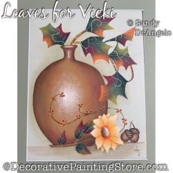 Leaves for Vicki Painting Pattern PDF DOWNLOAD - Sandy DeAngelo