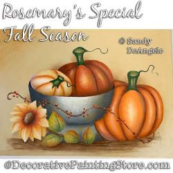 Rosemarys Special Fall Season Painting Pattern PDF DOWNLOAD - Sandy DeAngelo