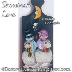 Snowman Love Painting Pattern PDF DOWNLOAD - Sandy DeAngelo