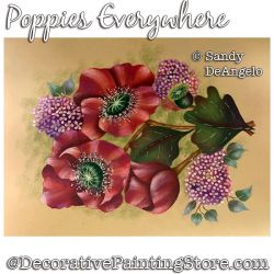 Poppies Everywhere Painting Pattern PDF DOWNLOAD - Sandy DeAngelo