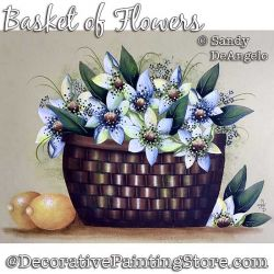 Basket of Flowers Painting Pattern PDF DOWNLOAD - Sandy DeAngelo