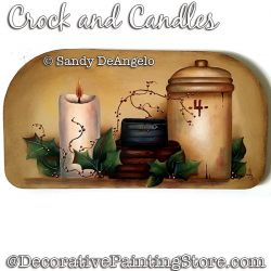 Crocks and Candles Painting Pattern PDF DOWNLOAD - Sandy DeAngelo