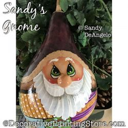 Sandys Gnome (Gourd) Painting Pattern PDF DOWNLOAD - Sandy DeAngelo