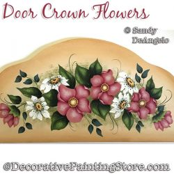 Door Crown Flowers Painting Pattern PDF DOWNLOAD - Sandy DeAngelo