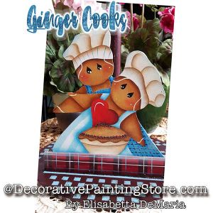 Ginger Cooks e-Pattern - Elisabetta DeMaria - PDF DOWNLOAD