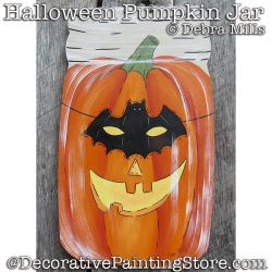 Halloween Pumpkin Jar DOWNLOAD - Debra Mills