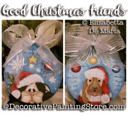 Good Christmas Friends e-Pattern - Elisabetta DeMaria - PDF DOWNLOAD