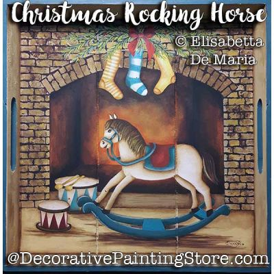 Christmas Rocking Horse e-Pattern - Elisabetta DeMaria - PDF DOWNLOAD