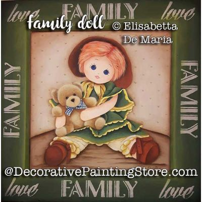 Family Doll e-Pattern - Elisabetta DeMaria - PDF DOWNLOAD