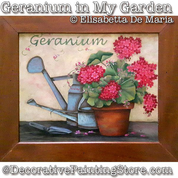 Geranium in My Garden e-Pattern - Elisabetta DeMaria - PDF DOWNLOAD