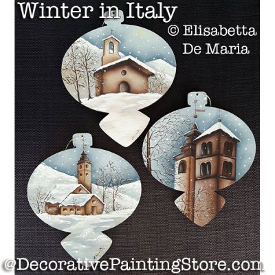 Winter in Italy Ornaments PDF DOWNLOAD - Elisabetta DeMaria