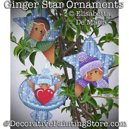 Ginger Star Ornaments DOWNLOAD - Elisabetta DeMaria