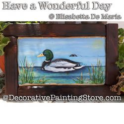 Have a Wonderful Day (Mallard Duck) DOWNLOAD - Elisabetta DeMaria
